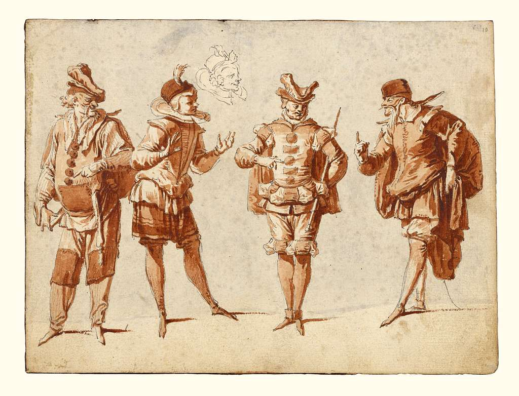 Four Figures in Theatrical Costume