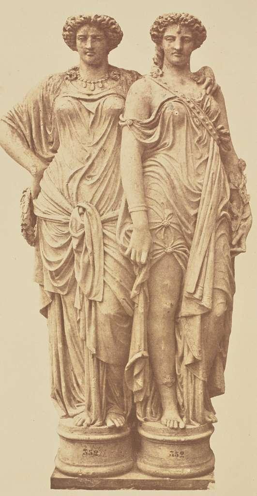 [Caryatids by Elias Robert, Decoration of the Louvre, Paris]