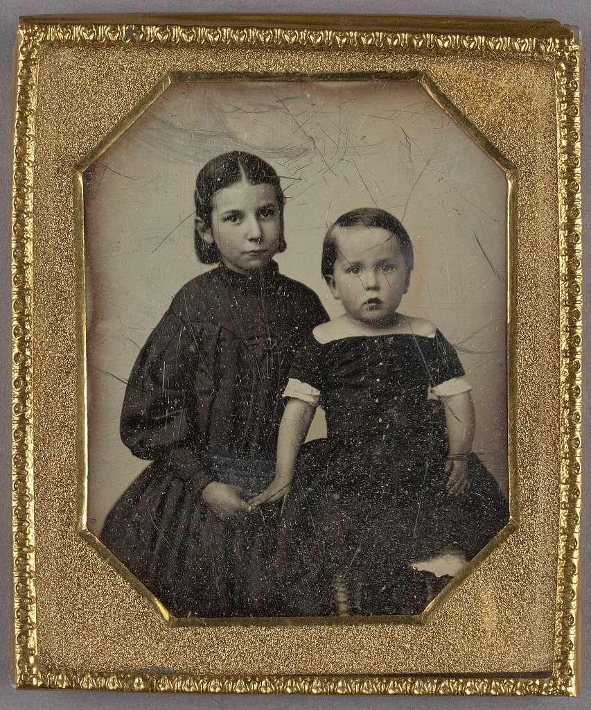 [Portrait of Two Girls]