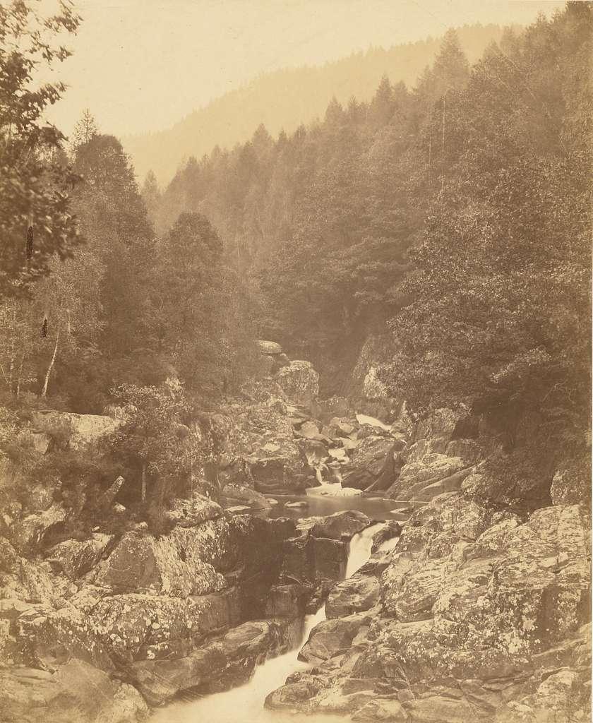 On the Llugury, below the Swallow Falls.