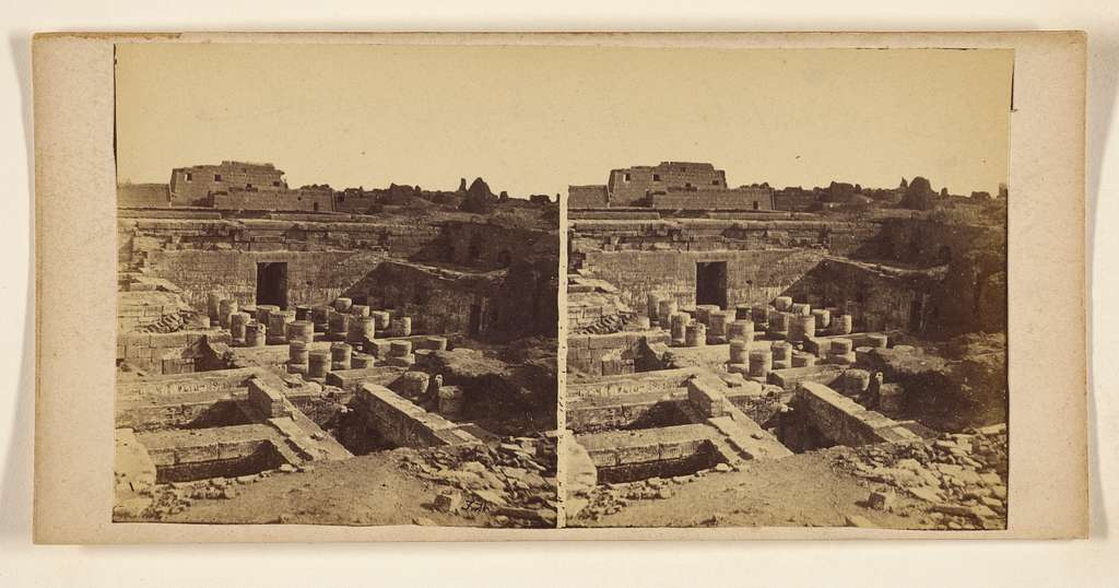 [The Temple of Medineh Hobou, Thebes]