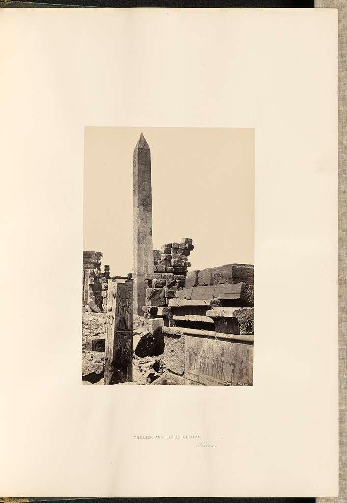 Obelisk and Lotus Column, Karnac