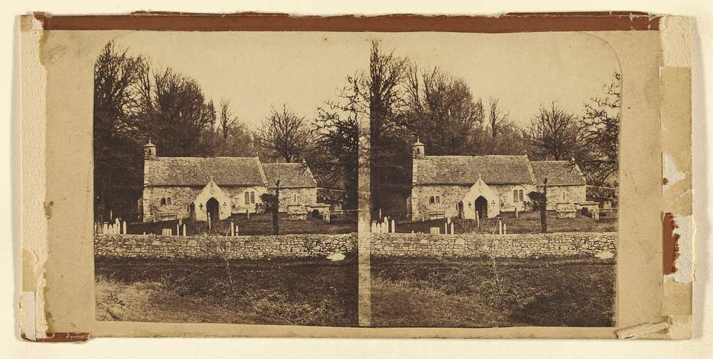 [Church and graveyard]