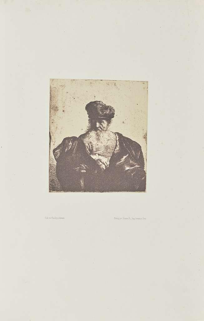 [Old man with beard, fur cap, and velvet cloak]