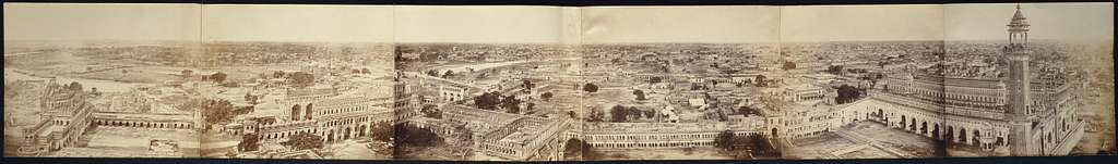 Panorama of Lucknow, Taken from the Kaiser Bagh Palace, 1858