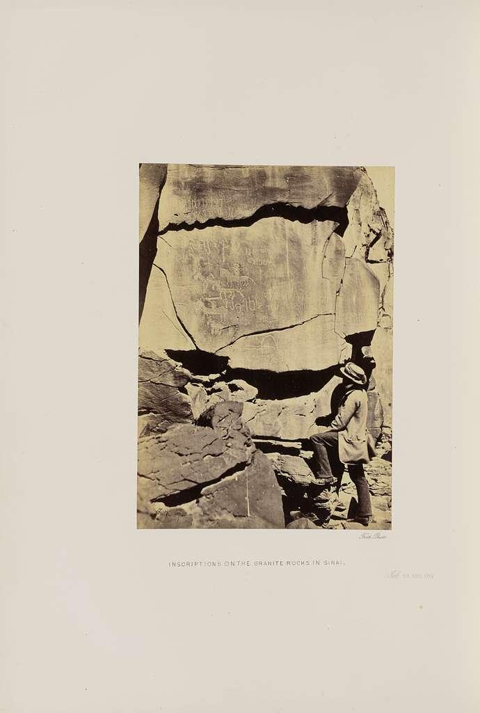 Inscriptions on the Granite Rocks in Sinai