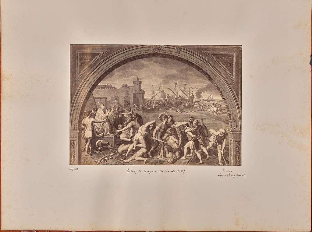 Landung der Sarazenen (bei Ostia unter Leo IV)