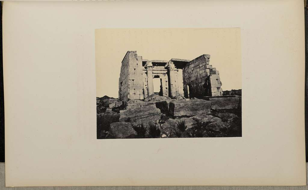 [Ruins with two columns]
