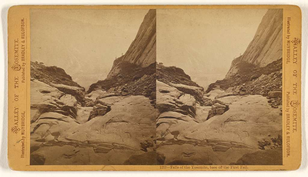 Falls of the Yosemite, Base of the First Fall