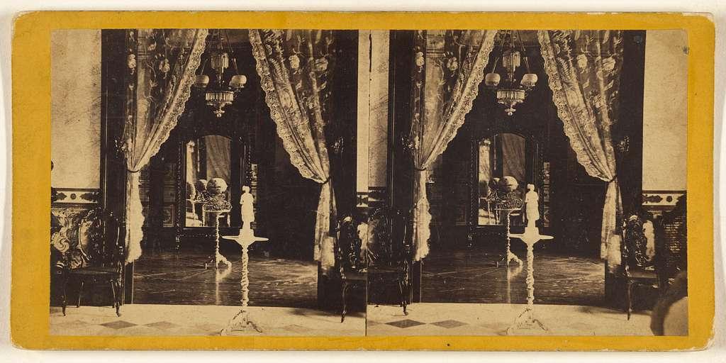 Interior View. Palace of the Conde de Santovenia. The Countess' Boudoir.
