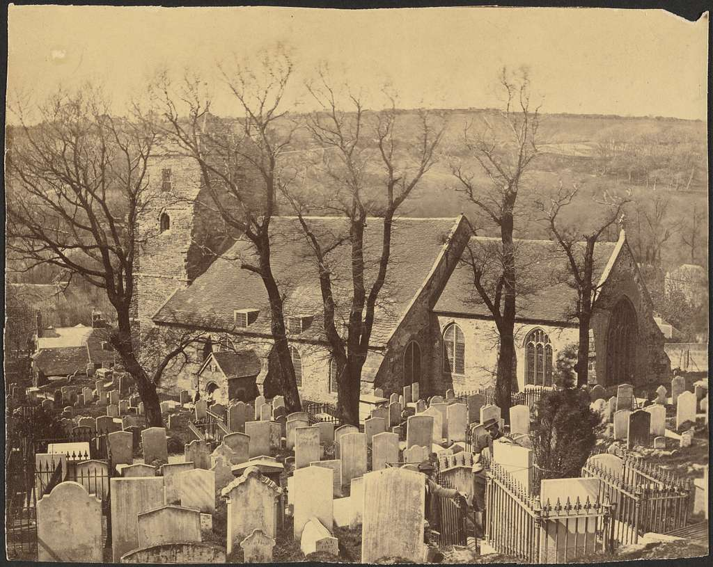 [View of a Church from a Graveyard]