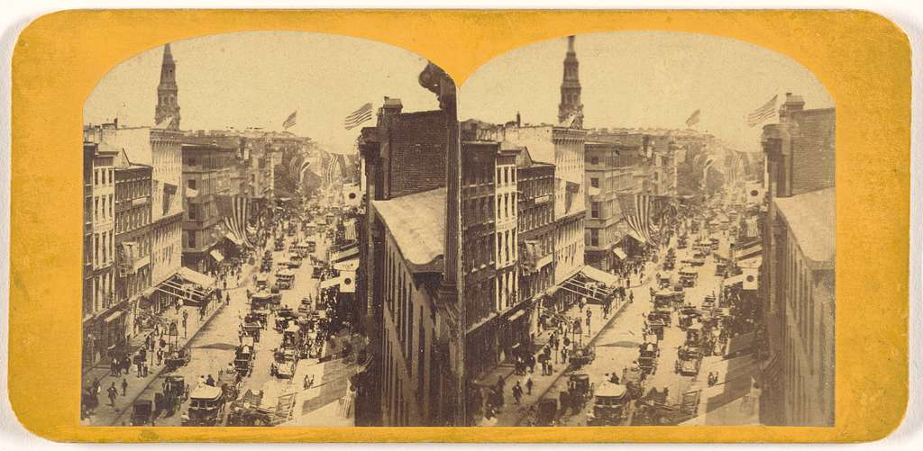 View on Broadway, New York City: Reception for the First Japanese Diplomatic Mission to the United States
