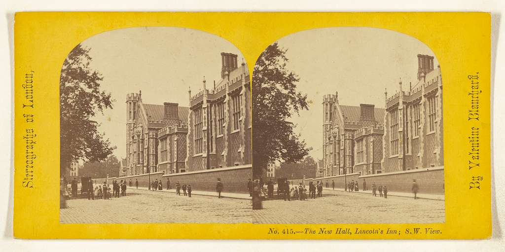 The New Hall, Lincoln's Inn; S.W. View. [London, England]