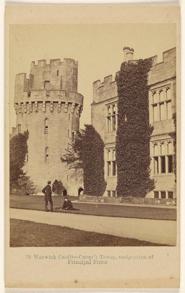 Warwick Castle - Caesar's Tower, and portion of Principal Front.