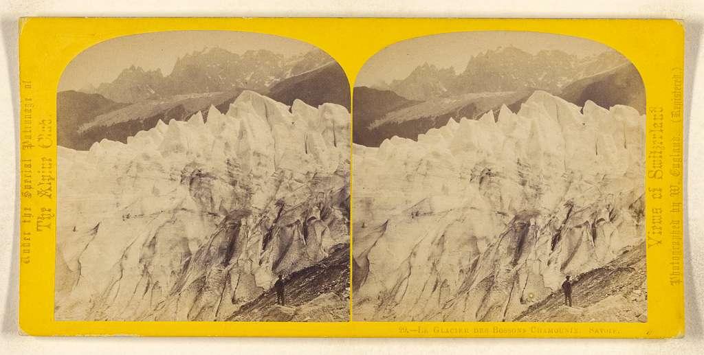 Le Glacier des Bossons Chamounix. Savoie.