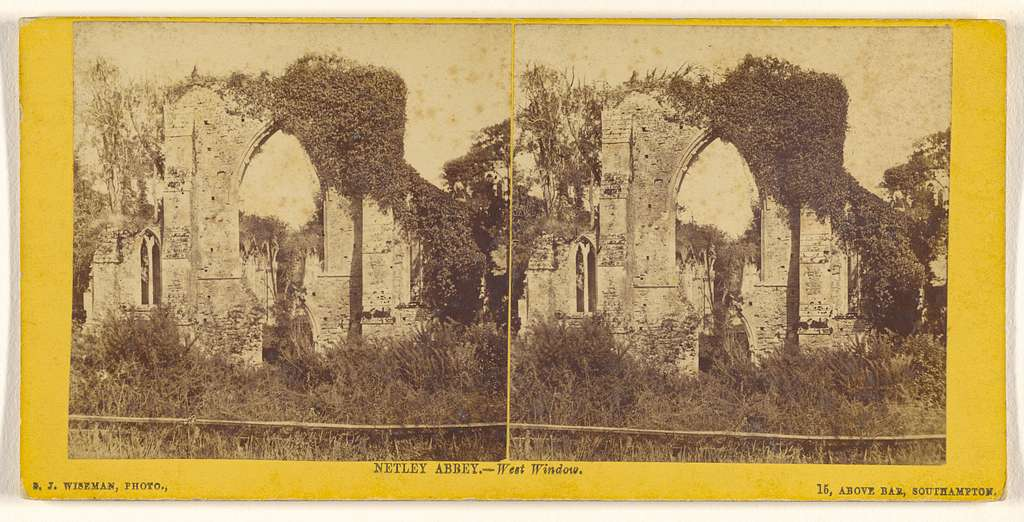 Netley Abbey. - West Window.