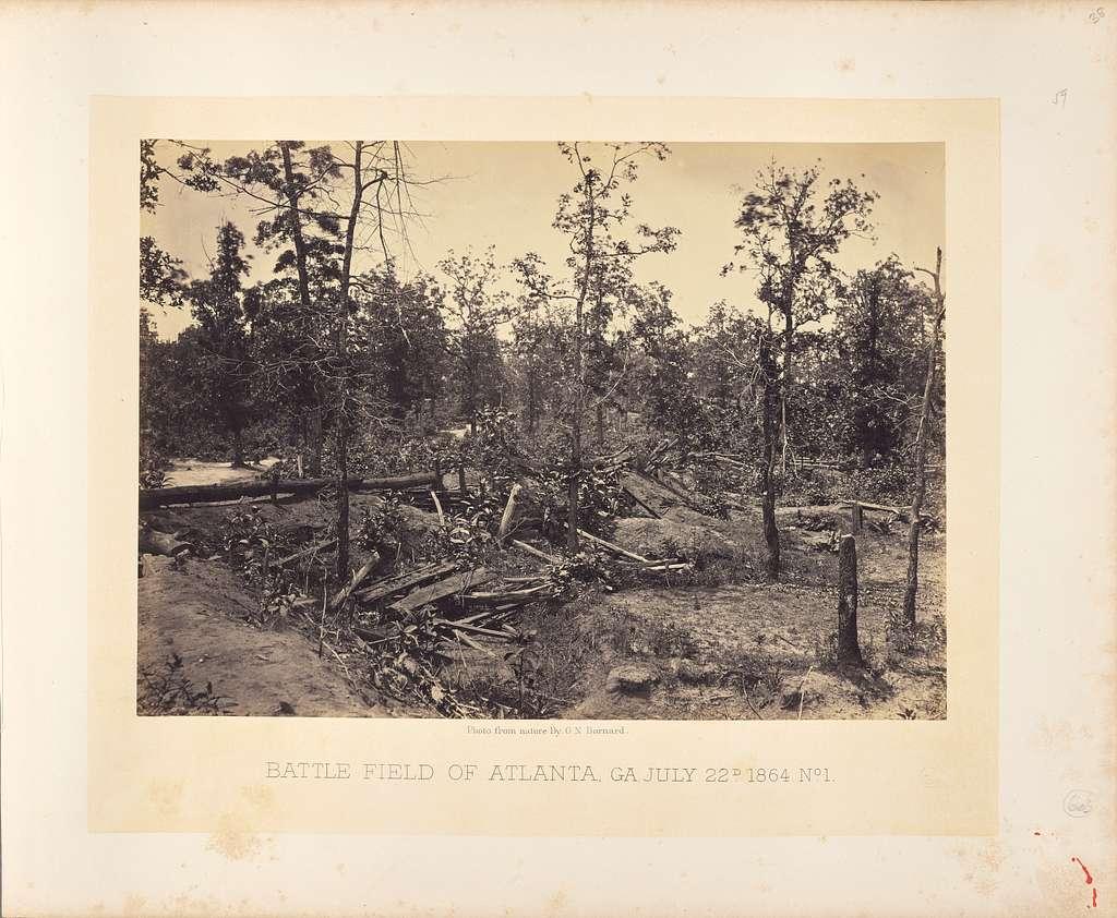 Battle Field of Atlanta, Georgia, July 22, 1864, No. 1
