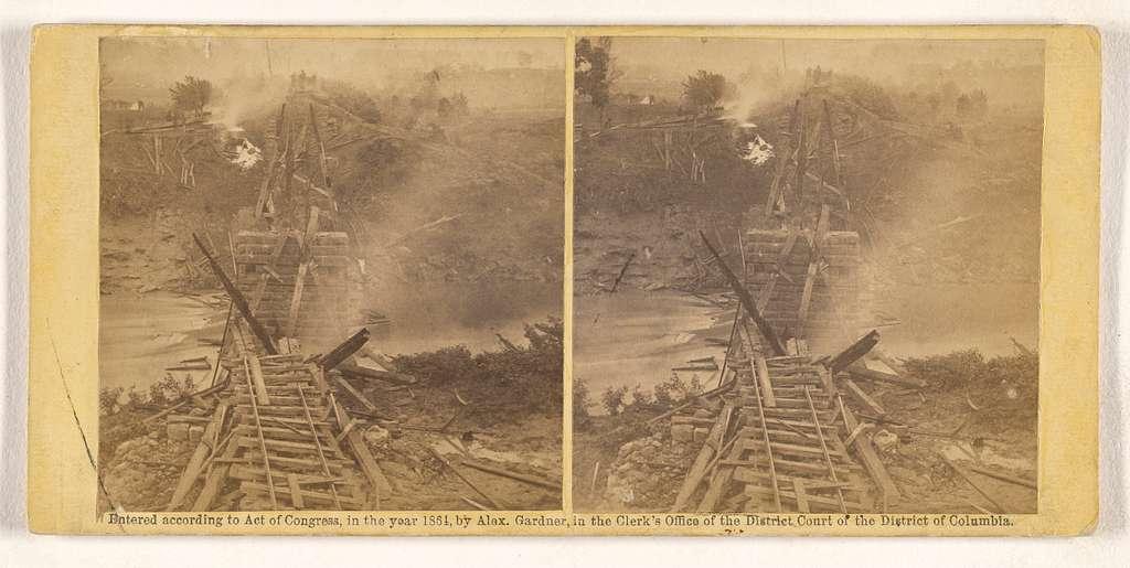 Destruction of Railroad Bridge Across the North Anna, 25th May, 1864.