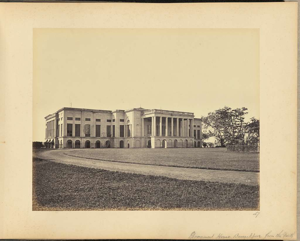 Government House, Barrackpore, from the North