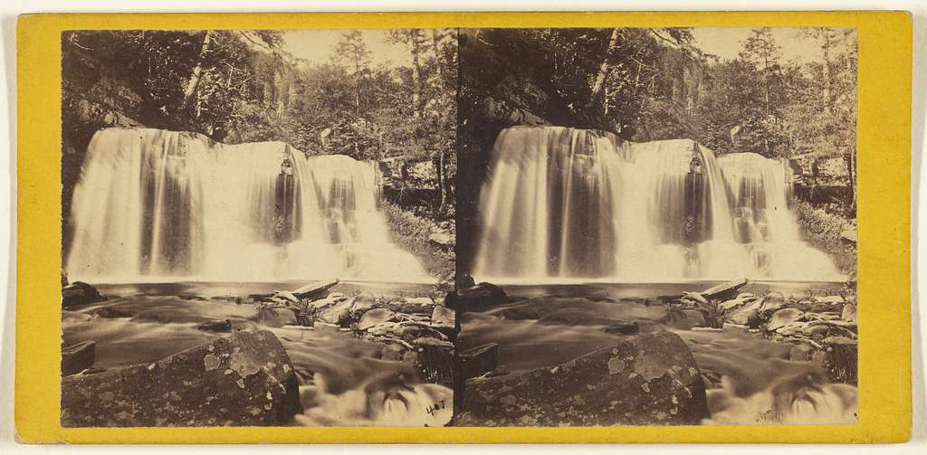 The Glens of the Catskills. Bastion Fall in the Kauterskill Gorge.