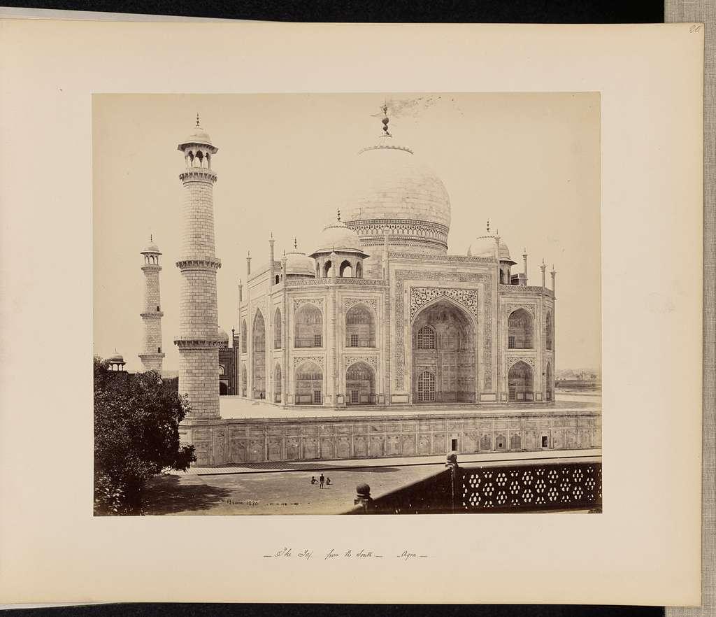 Agra; The Taj, from the Corner of the Quadrangle