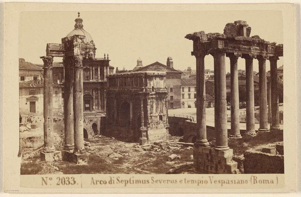 Arco di Septimus Severus e tempio Vespasiano (Roma)