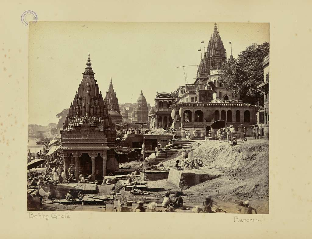 """Benares; """"Vishnu Pud"""" and Other Temples near the Burning Ghat"""