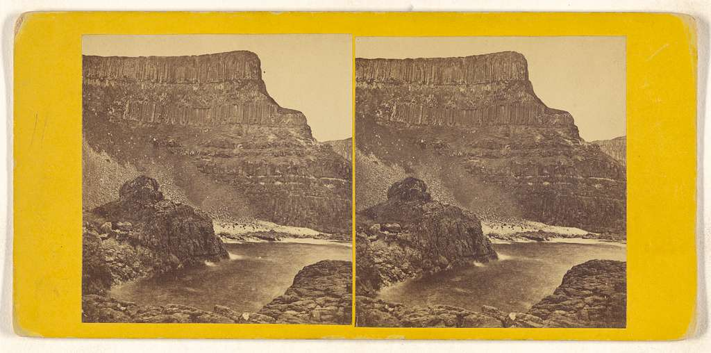 Giants' Causeway, Ireland. Port-na-Pleaskin and Pleaskin Head, from Rocks above Horse-shoe Harbour.