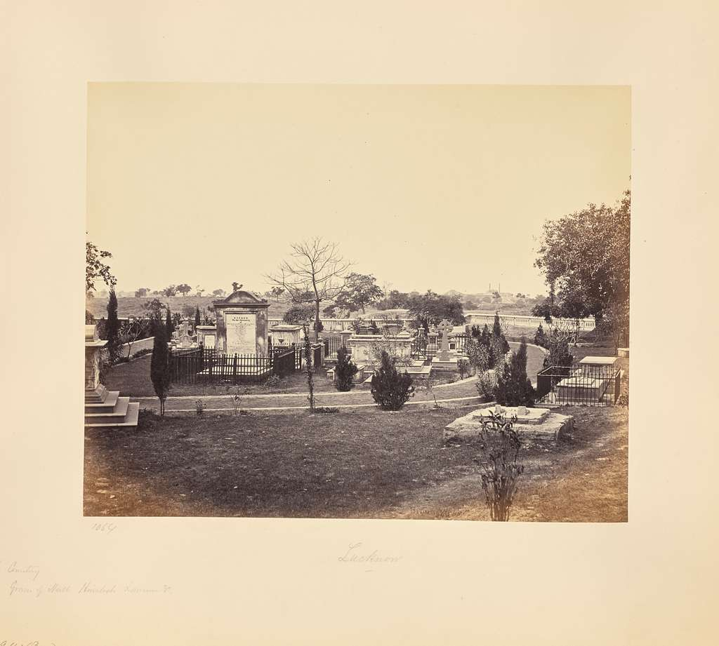 Lucknow; The Graves of Neil, Lawrence etc., in the Cemetery