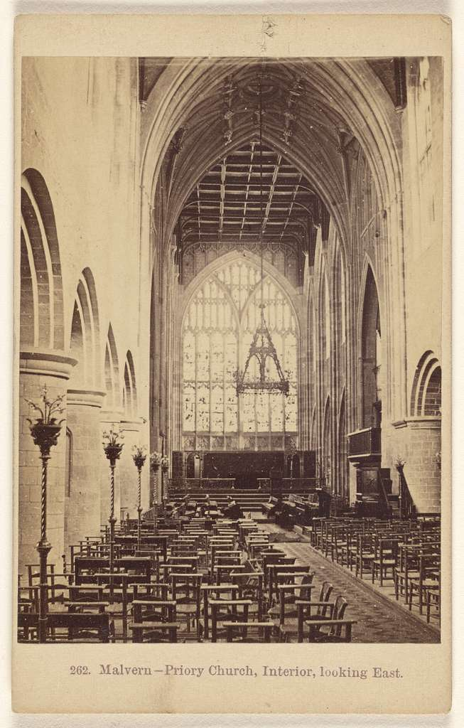 Malvern - Priory Church, Interior, looking East.
