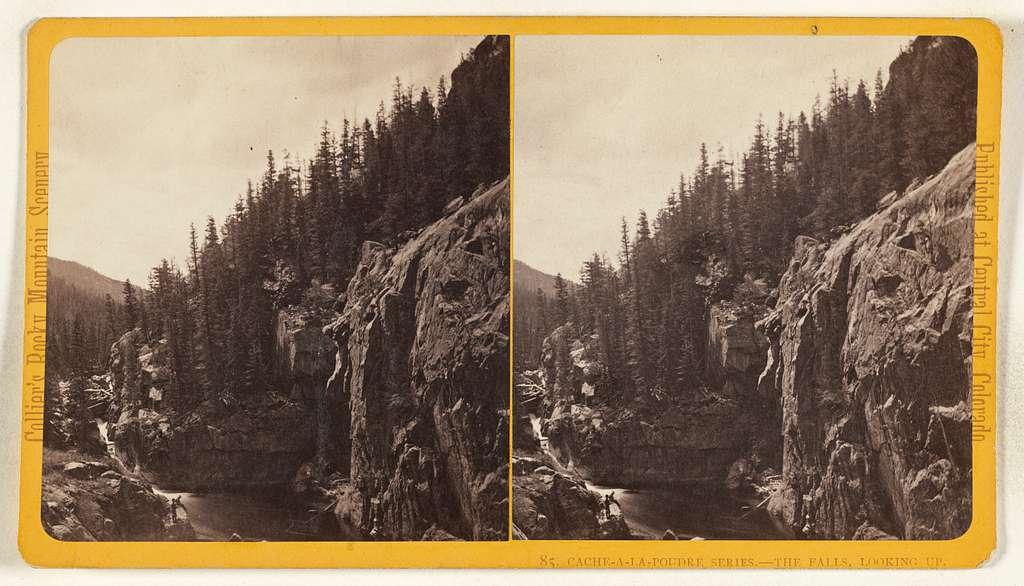 The Falls, Looking Up. [Cache-a-la-Poudre, Colorado]