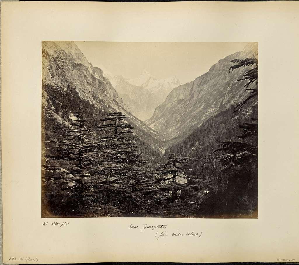 The Ganges Valley, five miles below Gangootri