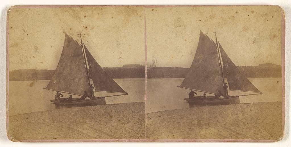"The Sail Boat ""Winona,"" on the Beach [Ensenore Glen, N.Y.]"