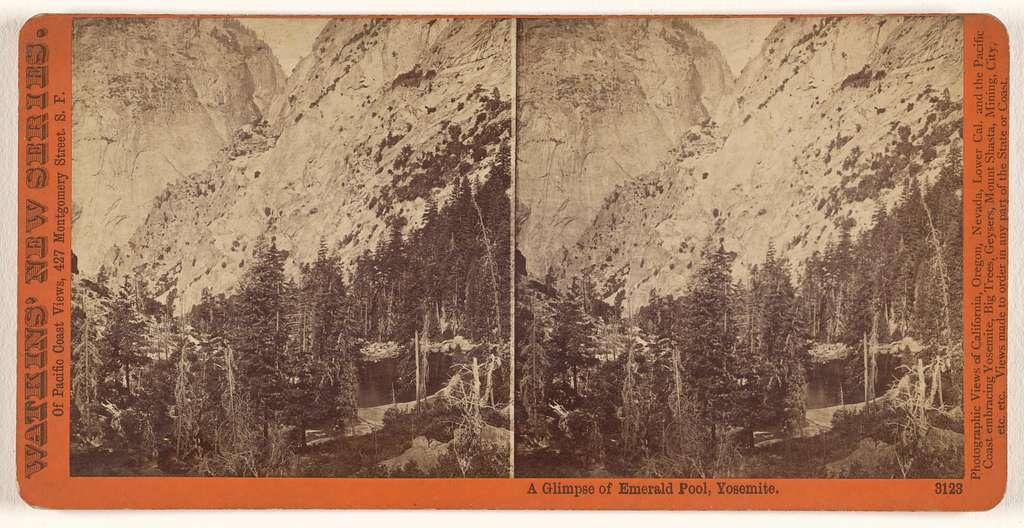 A Glimpse of Emerald Pool, Yosemite.