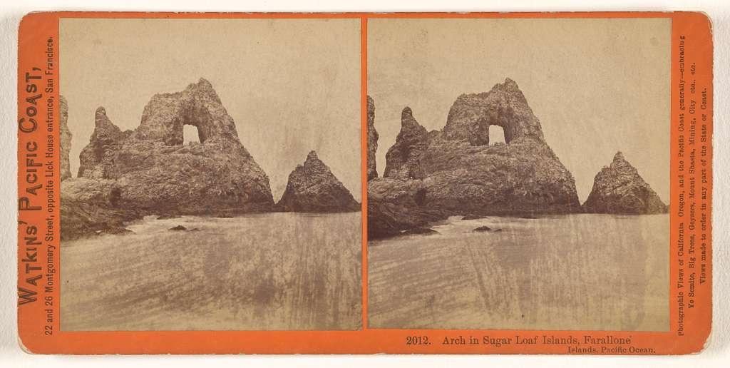 Arch in Sugar Loaf Islands, Farallone [sic] Islands, Pacific Ocean.