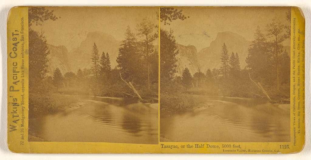 Tasayac, or the Half Dome, 5000 feet, Yosemite Valley, Mariposa County, Cal.