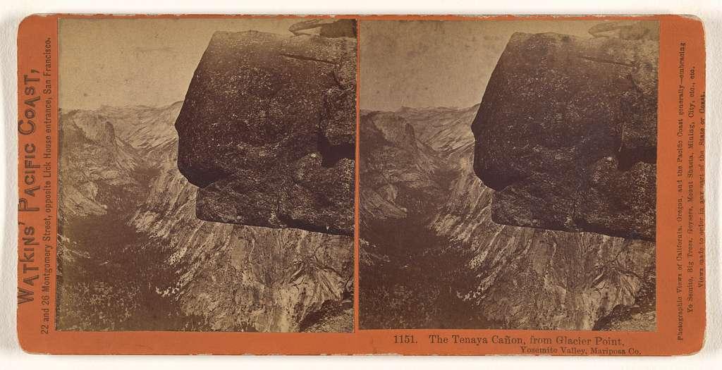 The Tenaya Canon, from Glacier Point, Yosemite Valley, Mariposa Co.