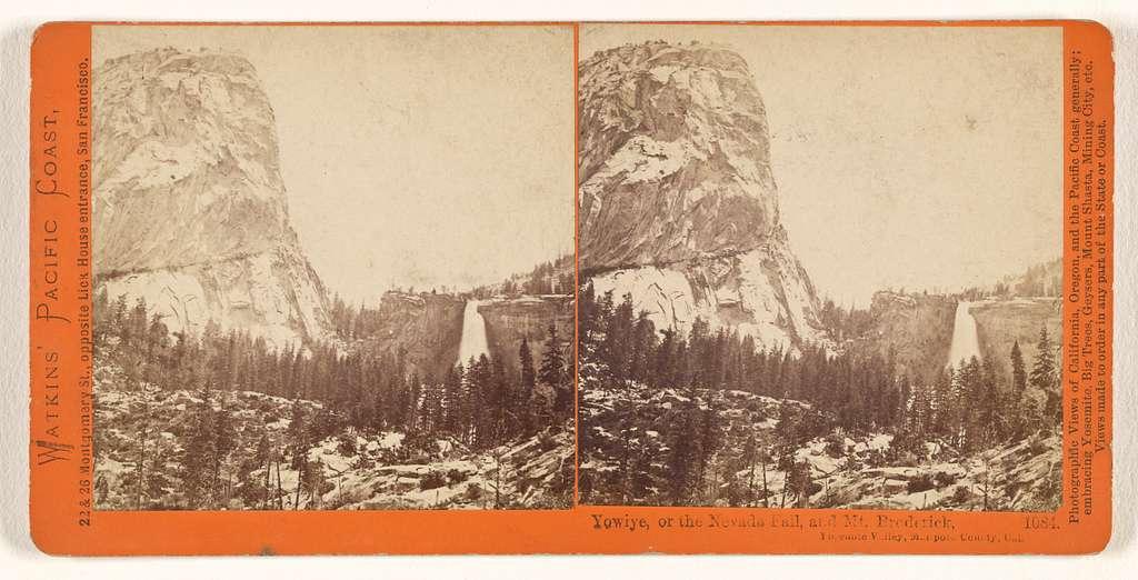 Yowiye, or the Nevada Fall, 700 feet, Yosemite Valley, Mariposa County, Cal.