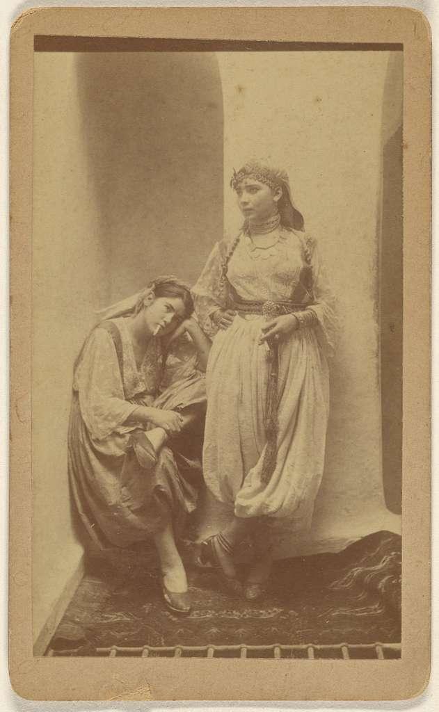 [Orientalist studio portrait of two woman]