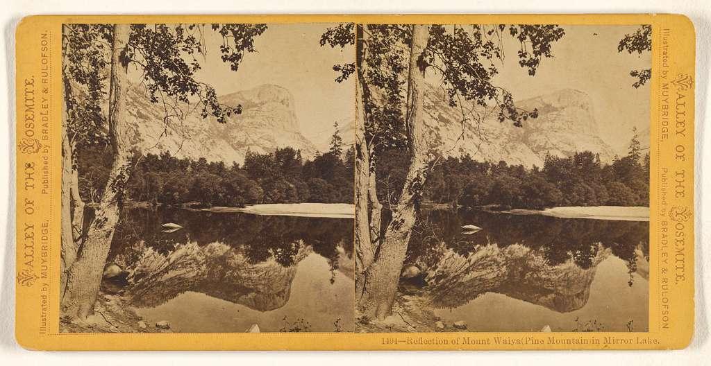 Reflection of Mount Waiya (Pine Mountain) in Mirror Lake.