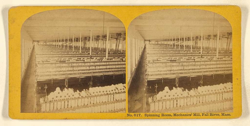Spinning Room, Mechanics' Mill, Fall River, Mass.