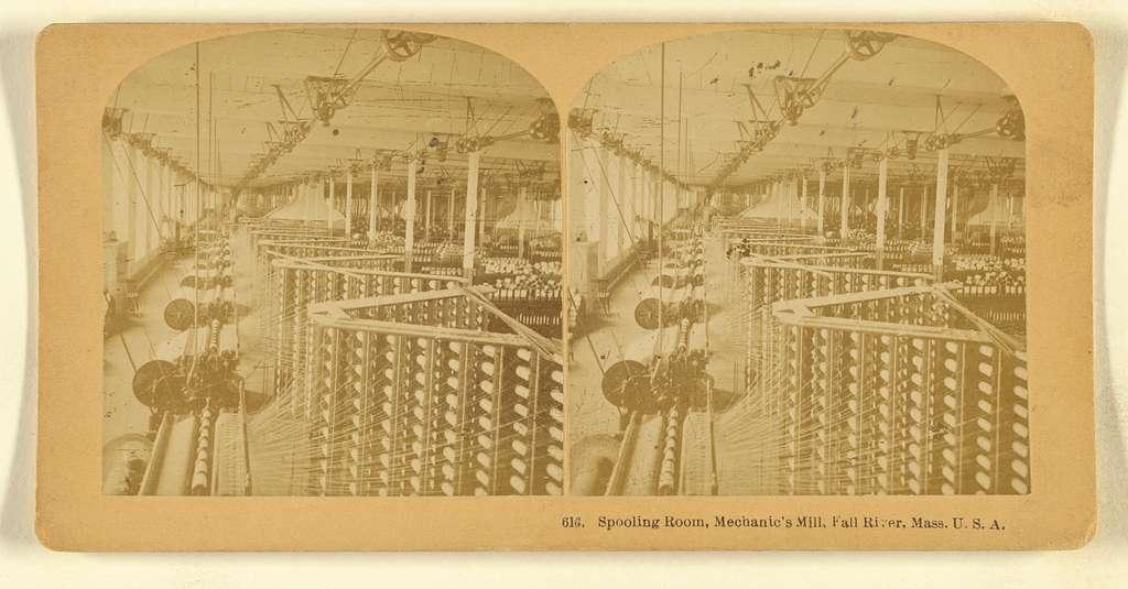Spooling Room, Mechanic's Mill, Fall River, Mass.