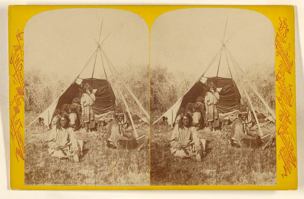Breaking Up Camp. U-In-Ta Utes. Living in the U-in-ta Valley, on the Western Slope of the Wasatch Mountain in Utah.