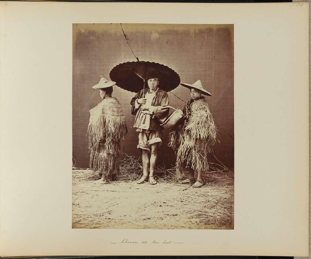 Chinamen with Rain Coats