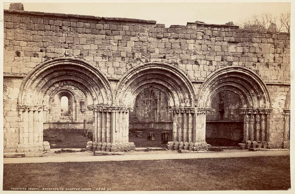 Fountains Abbey, Entrance to Chapter House