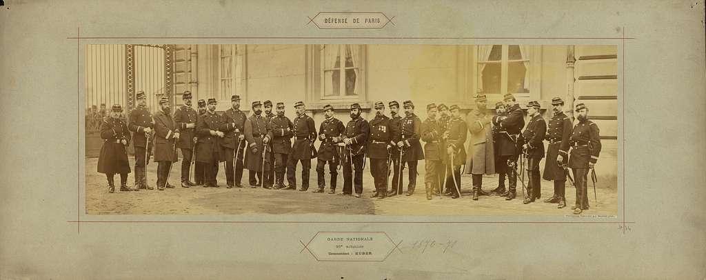 Garde Nationale, 95e Bataillon, Commandant: Huber