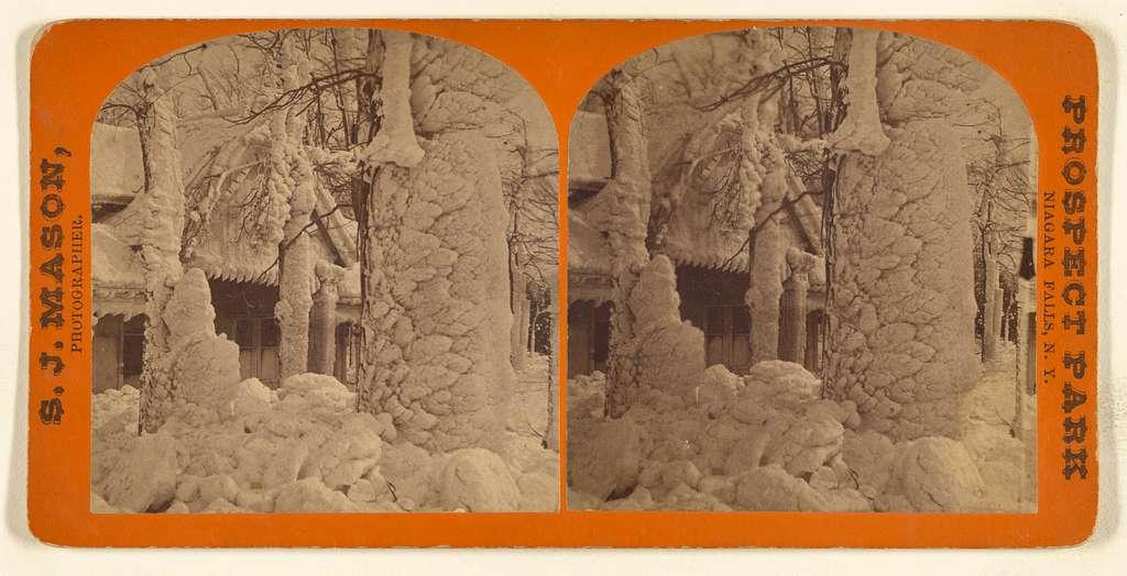 [Ice formation encompassing a house, Niagara Falls, N.Y.]