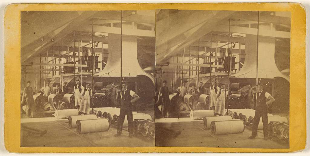 [Interior of a paper mill, Lewiston, Maine]