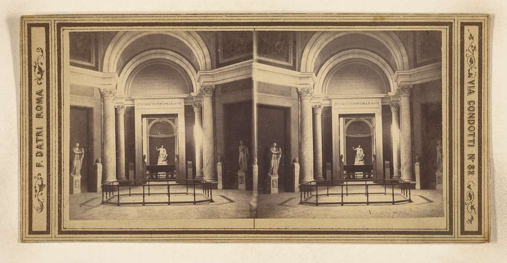 [Interior with Roman statues and busts]