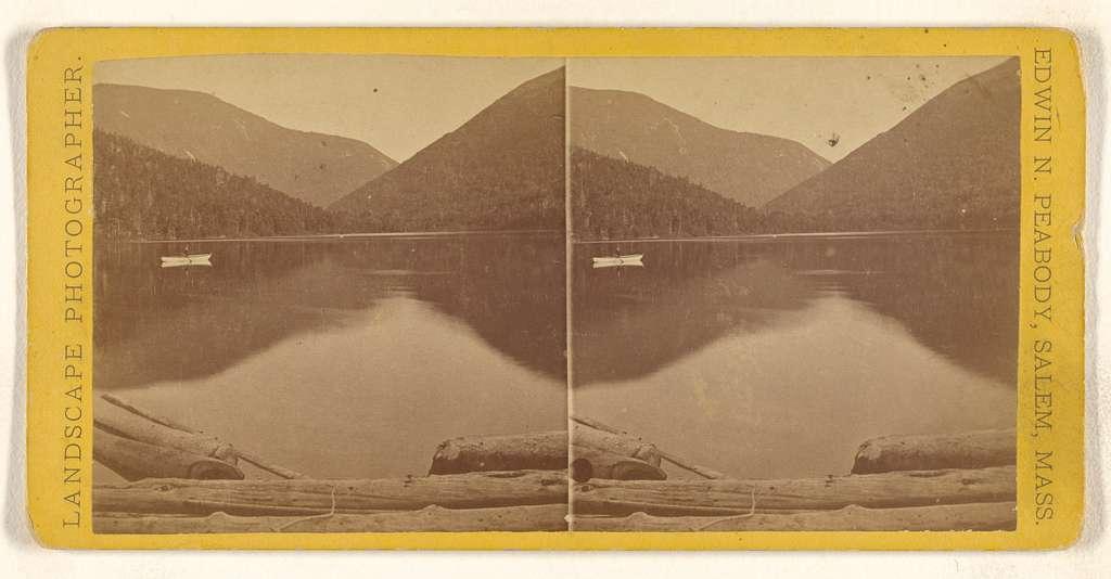 [Lake view, either White or Franconia Mountains]